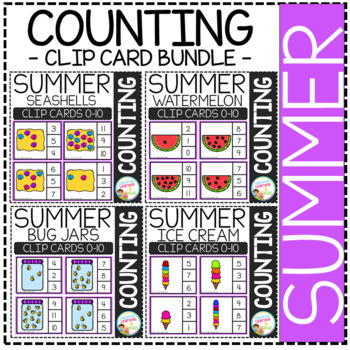 Counting Picture Clip Cards 0-10: MEGA Bundle