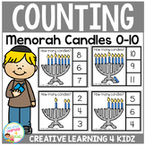 Counting Picture Clip Cards 0-10: Menorah Candles