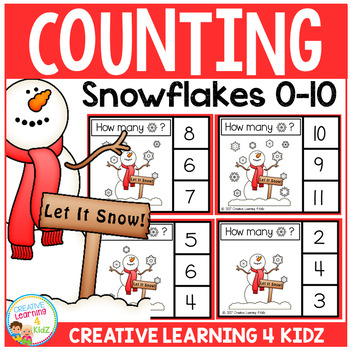 Counting Picture Clip Cards 0-10: Snowflake