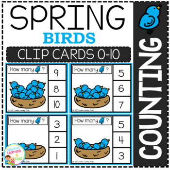Counting Picture Clip Cards 0-10: Spring 3 Bundle