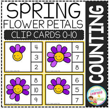Counting Picture Clip Cards 0-10: Spring