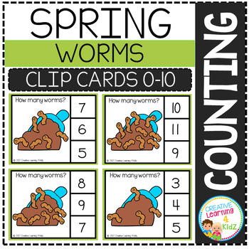 Counting Picture Clip Cards 0-10: Spring Bundle Set 2
