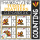 Counting Picture Clip Cards 0-10: Thanksgiving 2 Bundle