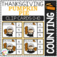 Counting Picture Clip Cards 0-10: Thanksgiving 2