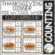 Counting Picture Clip Cards 0-10: Thanksgiving Dinner Bundle