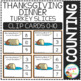 Counting Picture Clip Cards 0-10: Thanksgiving Dinner