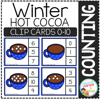 Counting Picture Clip Cards 0-10: Winter