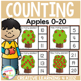 Counting Picture Clip Cards 0-20: Apple Tree