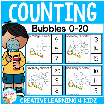 Counting Picture Clip Cards 0-20: Bubbles