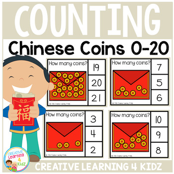 Counting Picture Clip Cards 0-20: Chinese New Year