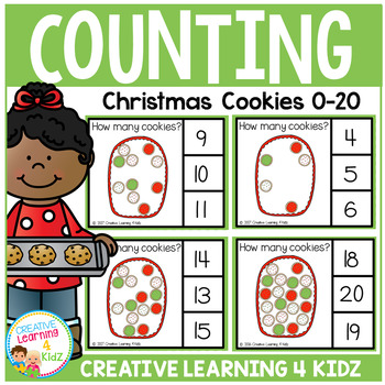 Counting Picture Clip Cards 0-20: Christmas Cookies