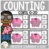 Counting Picture Clip Cards 0-20: Coins