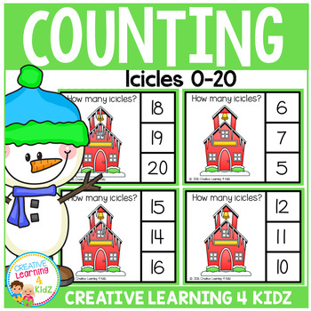 Counting Picture Clip Cards 0-20: Icicles