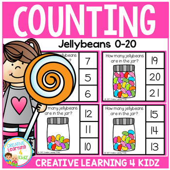 Counting Picture Clip Cards 0-20: Jellybeans
