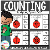 Counting Picture Clip Cards 0-20: Ladybug Spots