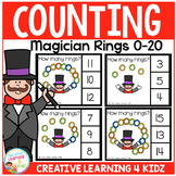 Counting Picture Clip Cards 0-20: Magician Rings