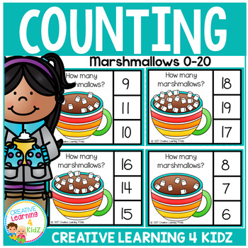 Counting Picture Clip Cards 0-20: Marshmallows