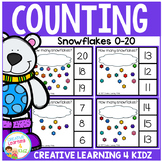 Counting Picture Clip Cards 0-20: Snowflakes
