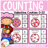 Counting Picture Clip Cards 0-20: Valentine's Day Cookies