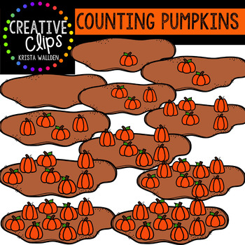 Counting Pictures: Autumn Clipart {Creative Clips Clipart}