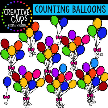 Counting Pictures: Balloons {Creative Clips Clipart}
