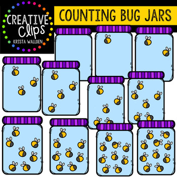 Counting Pictures: Bug Jars {Creative Clips Clipart}