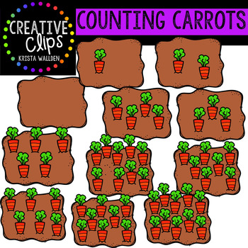 Counting Pictures: Carrots {Creative Clips Clipart}