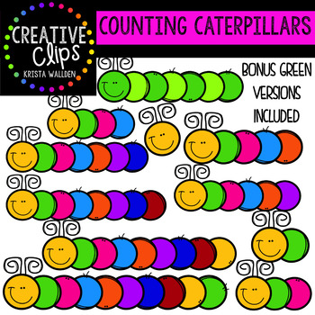 Counting Pictures: Caterpillars {Creative Clips Clipart}
