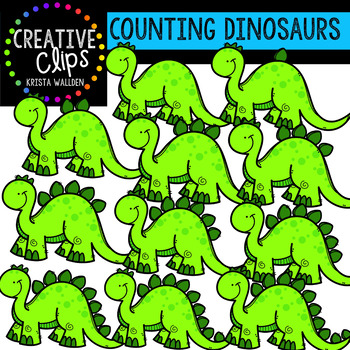 Counting Pictures: Dinosaurs {Creative Clips Clipart}