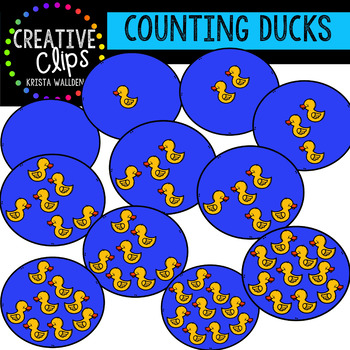 Counting Pictures: Ducks {Creative Clips Clipart}