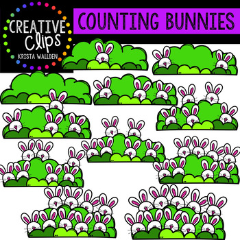 Counting Pictures: Easter Bunnies {Creative Clips Clipart}
