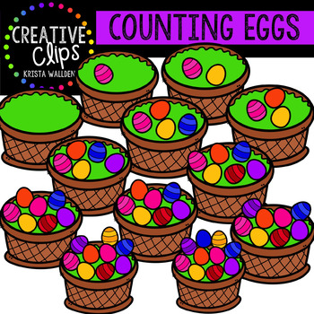 Counting Pictures: Easter Eggs {Creative Clips Clipart}