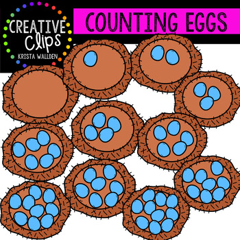 Counting Pictures: Eggs {Creative Clips Clipart}
