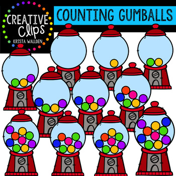 Counting Pictures: Gumball Machines {Creative Clips Clipart}