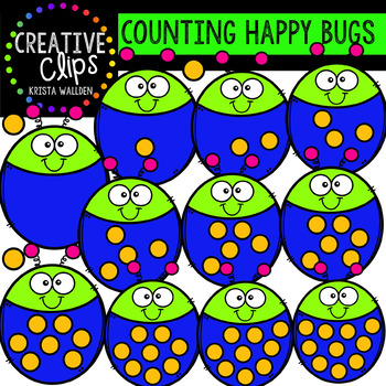 {FREE} Counting Pictures: Happy Bugs {Creative Clips Clipart}