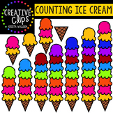 Counting Pictures: Ice Cream Summer Clipart {Creative Clips Clipart}