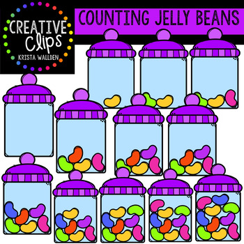 Counting Pictures: Jelly Beans {Creative Clips Clipart}