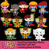 Counting Pictures - Math Clip Art: Counting Superhero Books