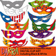 Counting Pictures - Math Clipart: Superhero Masks Clip Art (counting stars)