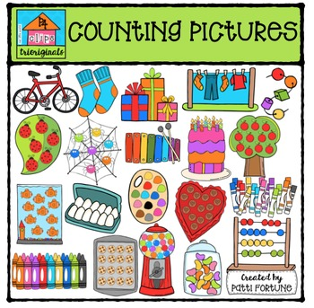 Counting Pictures {P4 Clips Trioriginals Digital Clip Art}