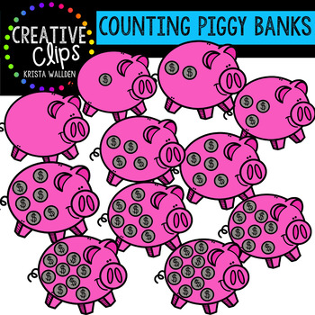 Counting Pictures: Piggy Banks {Creative Clips Clipart}
