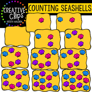 Counting Pictures: Seashell Summer Clipart {Creative Clips Clipart}