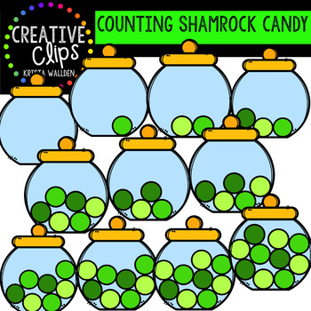 Counting Pictures: St. Patrick's Day Candy {Creative Clips Clipart}