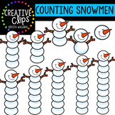Counting Pictures: Snowmen {Creative Clips Clipart}