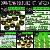 Counting Pictures: St. Patrick's Day Clipart {Creative Clips Clipart}