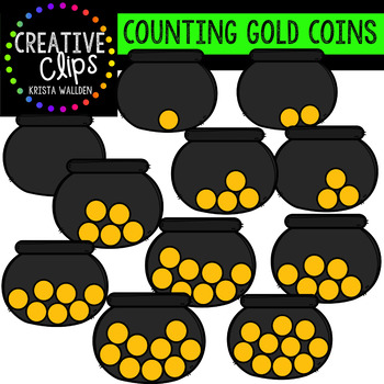 Counting Pictures: St. Patrick's Day Coins {Creative Clips Clipart}