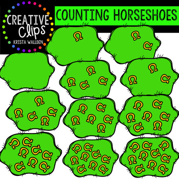Counting Pictures: St. Patrick's Day Horseshoes {Creative Clips Clipart}