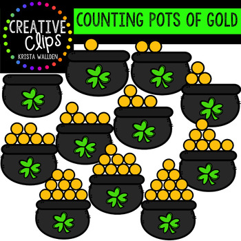 Counting Pictures: St. Patrick's Day Pots of Gold {Creative Clips Clipart}