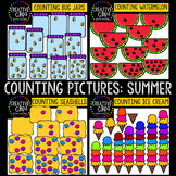 Counting Pictures: Summer Clipart {Creative Clips Clipart}
