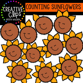 Counting Pictures: Sunflowers {Creative Clips Clipart}